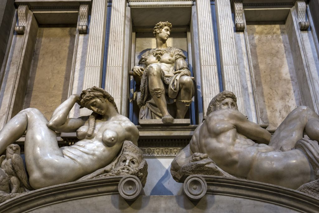 Cappelle medicee a Firenze - Le sculture della Sagrestia Nuova