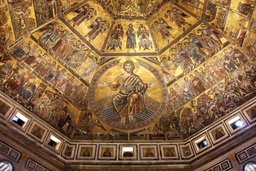 I mosaici del Battistero di Firenze, una delle attrazioni principali